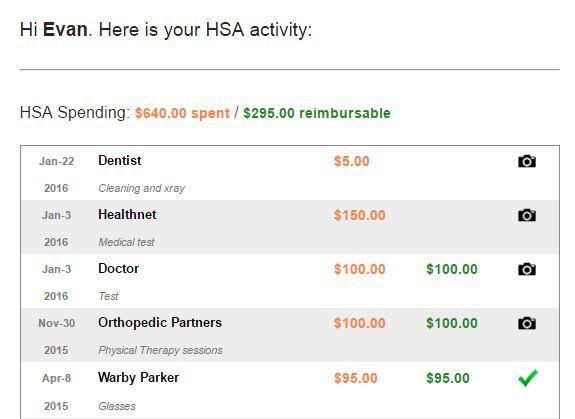 HSA Summary Page