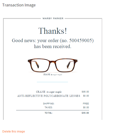 HSA receipt image glasses