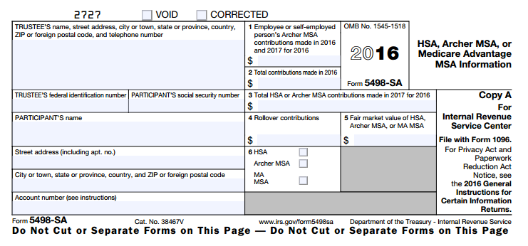 What is HSA tax form 5498-SA? | HSA Edge