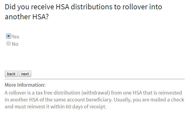 EasyForm8889.com HSA Rollover questions