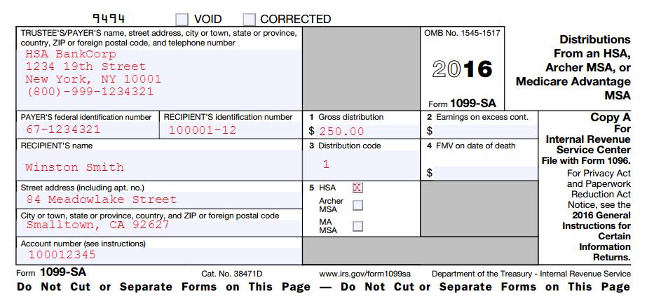What Is Hsa Form 1099 Sa Hsa Edge