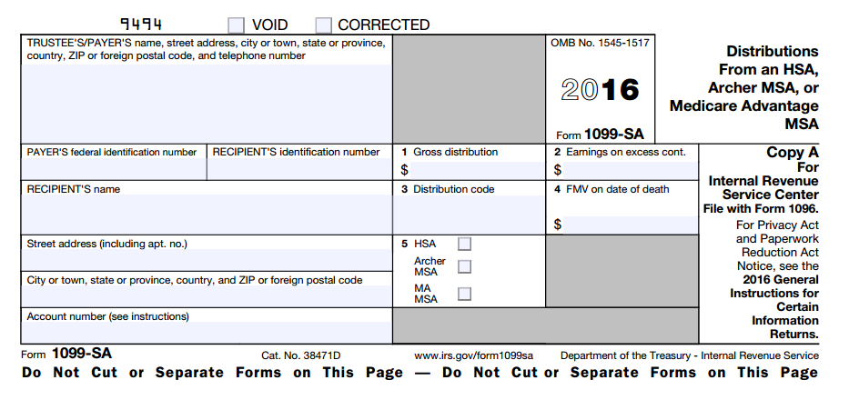 What Is Hsa Form 1099 Sa Hsa Edge