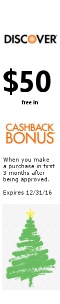 $50 Cashback bonus when you open a Discover card before 12/31