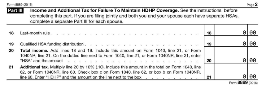 2016 HSA Form 8889 - Instructions and Example | HSA Edge
